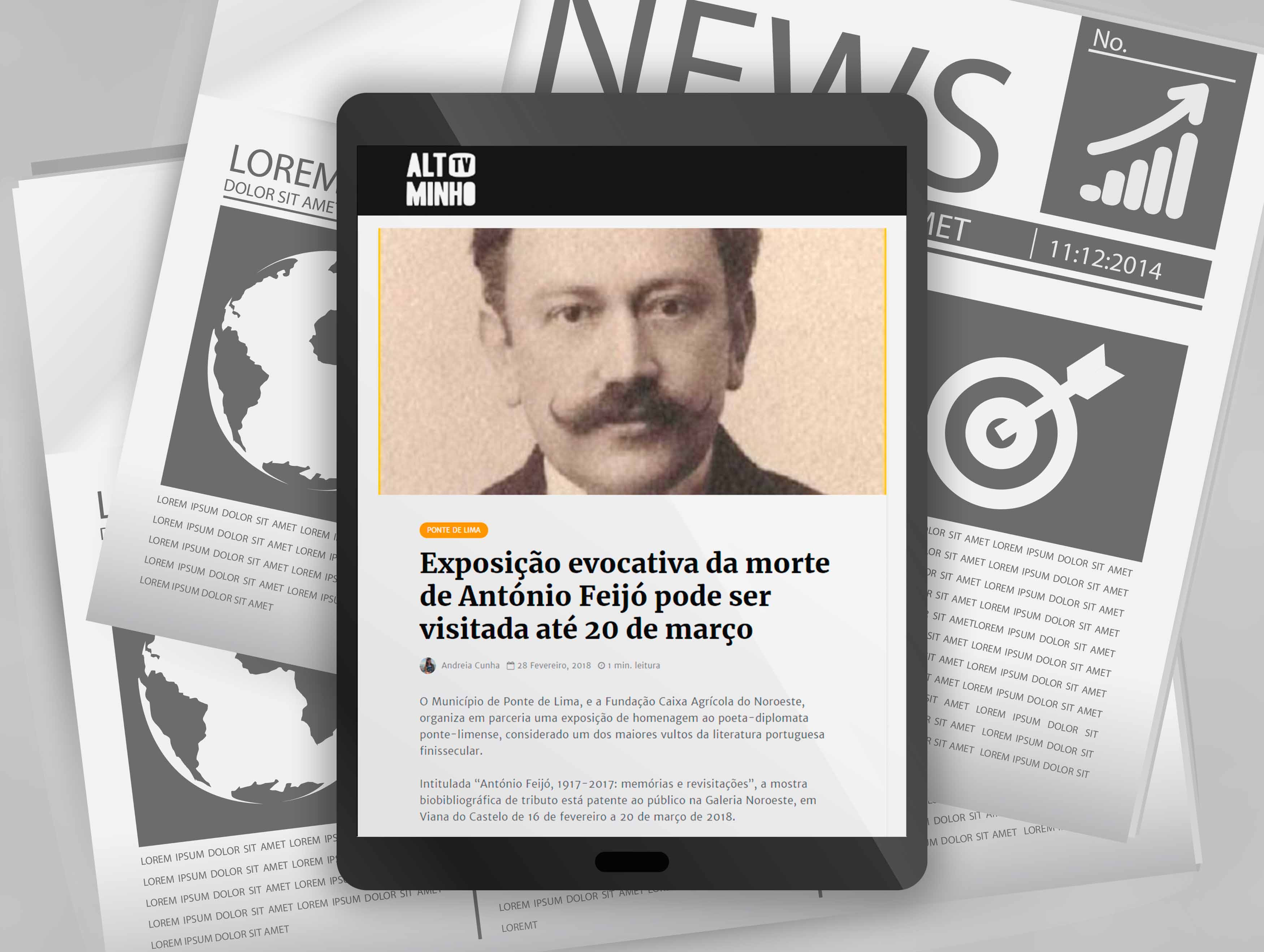 Exposição evocativa da morte de António Feijó