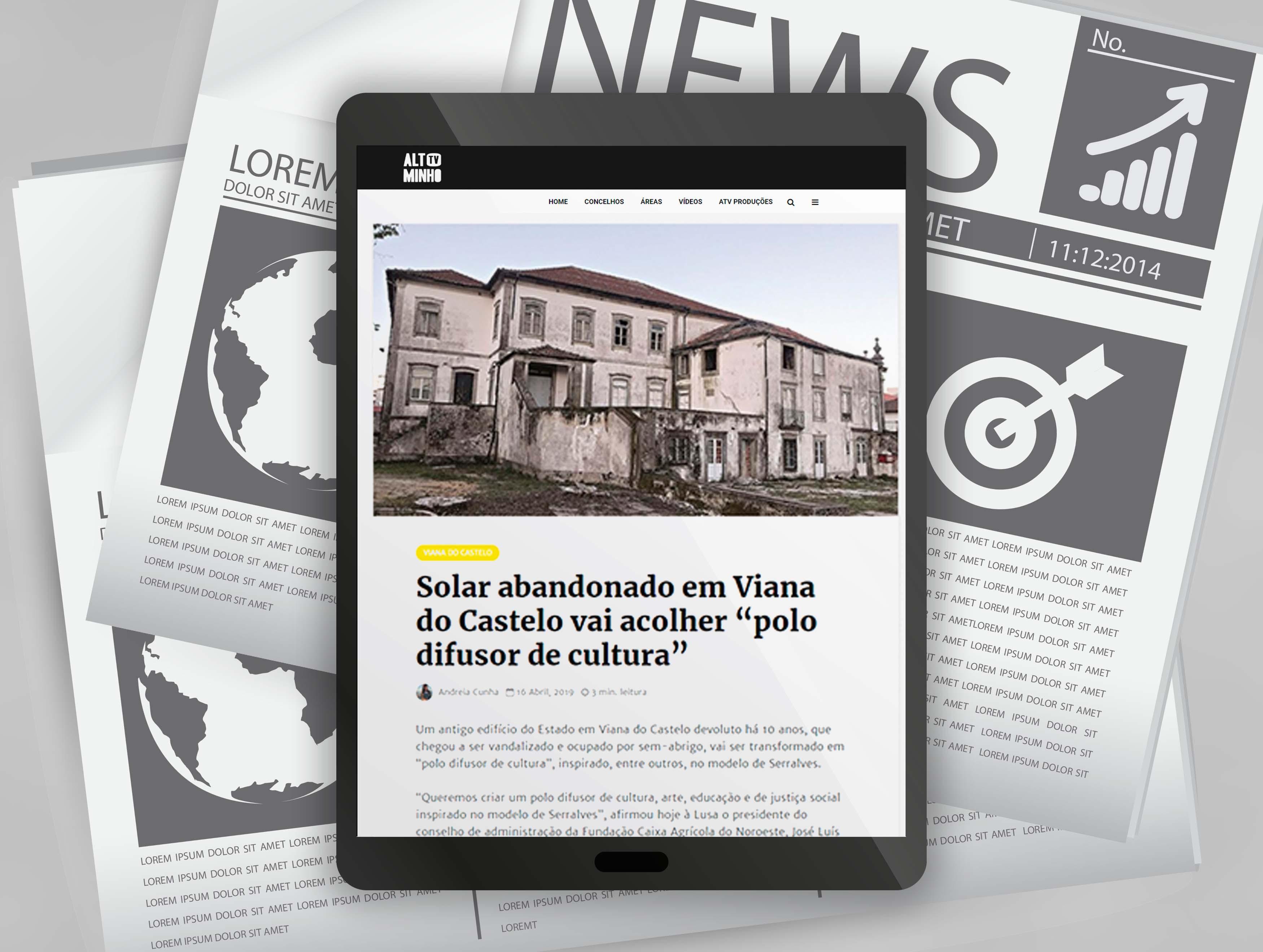 """Solar abandonado em Viana do Castelo vai acolher """"polo difusor de cultura"""""""