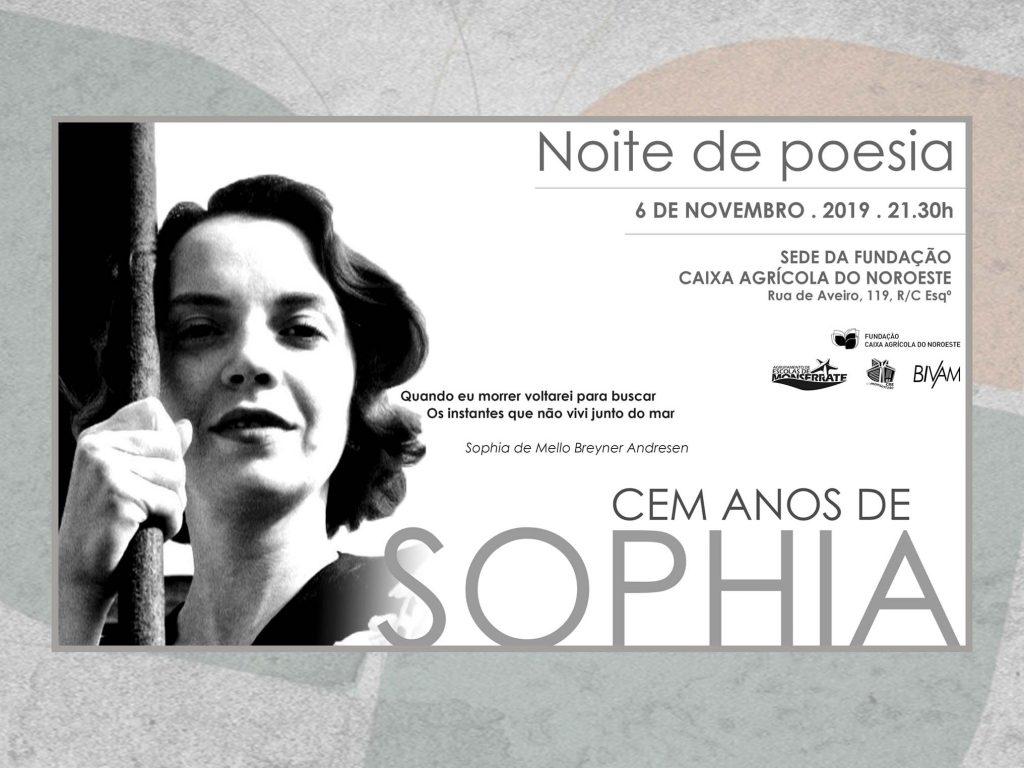 Noite de poesia – CEM ANOS DE SOPHIA